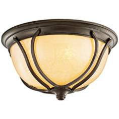"Kichler Pasadena Bronze 12 1/2"" Wide Ceiling Light"