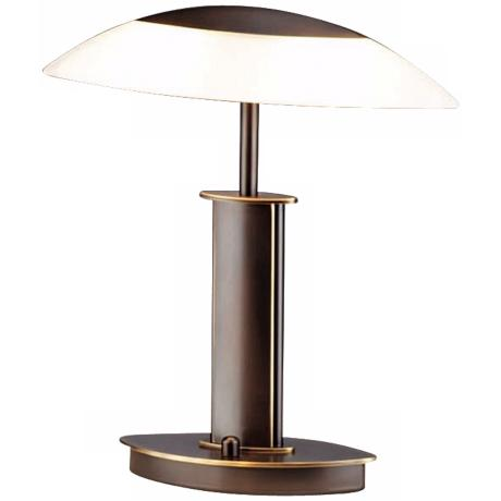 "Holtkoetter Elliptical Old Bronze 12 1/4"" High Desk Lamp"