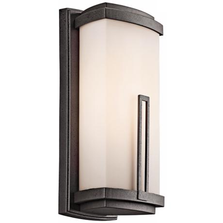 "Leeds Collection 16 1/2"" High Outdoor Wall Light"