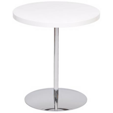 Raymond Adjustable Height White Accent Table