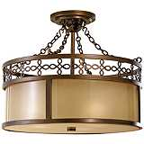 "Justine 17"" Wide Ceiling Light Fixture by Feiss"