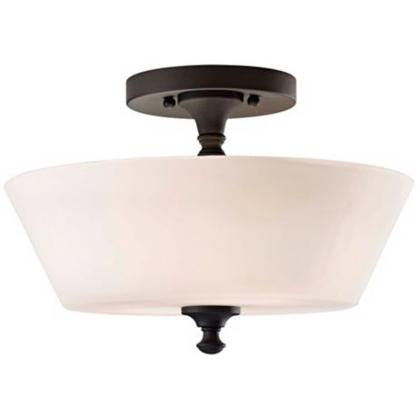 "Murray Feiss Peyton 13"" Wide Ceiling Light Fixture"