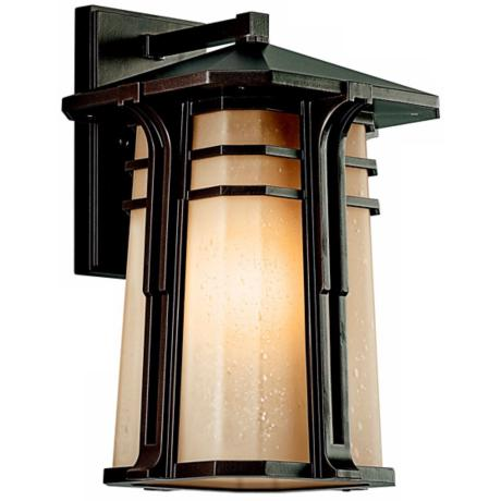"Kichler North Creek Bronze 16 1/2"" High Outdoor Wall Light"