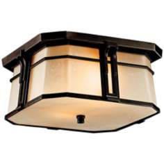 "Kichler North Creek Bronze 12"" Wide Outdoor Ceiling Light"