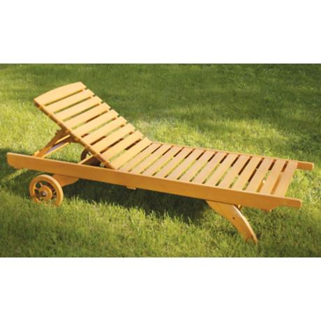 Eucalyptus Adjustable Chaise Lounge Chair