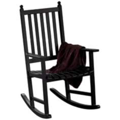 Eucalyptus Black Outdoor Rocking Chair