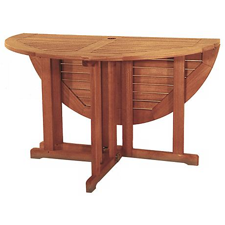 Eucalyptus Outdoor Folding Table