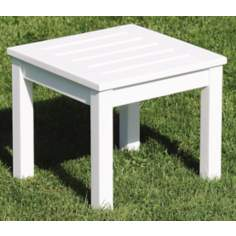 Eucalyptus White Outdoor Side Table
