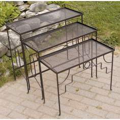 Set of 3 Rectangular Indoor Outdoor Nesting Tables