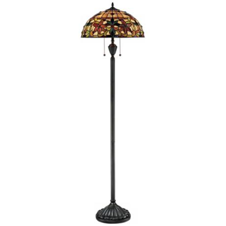Quoizel Kami Tiffany Art Glass Floor Lamp