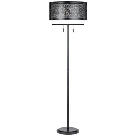 Quoizel Utopia Mystic Black Floor Lamp