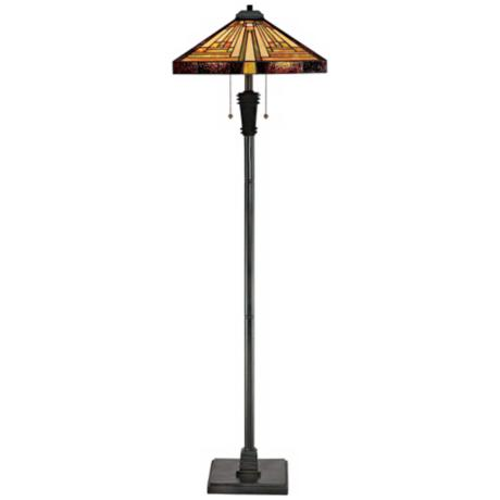 Quoizel Stephen Tiffany Art Glass Floor Lamp