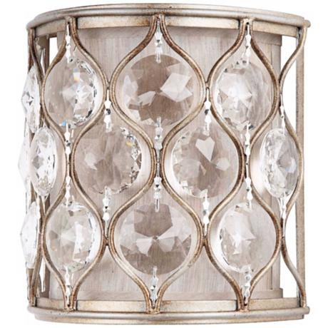 "Murray Feiss Lucia Collection 8"" High Crystal Wall Sconce"