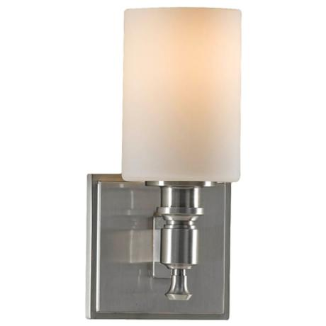 "Murray Feiss Sullivan Brushed Steel 9 1/2"" High Wall Sconce"
