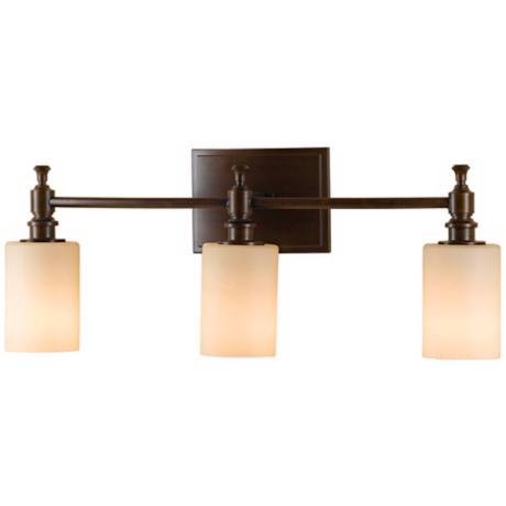 "Murray Feiss Sullivan Bronze 24"" Wide Bathroom Wall Light"