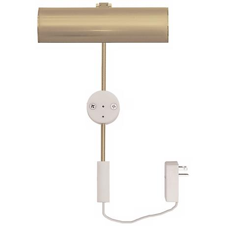 "Cody Satin Brass 6"" LED Picture Light"