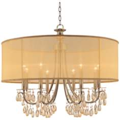 "Hampton Collection Antique Brass 32"" Wide Large Chandelier"