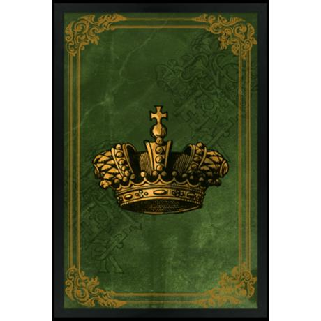 "Crown Green 30"" High Black Rectangular Giclee Wall Art"