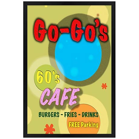 "Go-Go's Cafe Giclee 30"" High Wall Art"