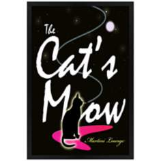 "The Cat's Meow Giclee 30"" High Wall Art"