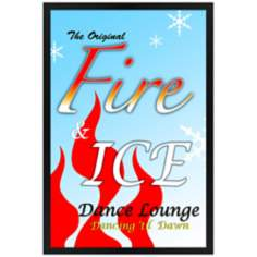 "Fire & Ice Giclee 30"" High Wall Art"