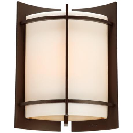 "Nolan Collection Bronze 13 1/2"" High Outdoor Wall Light"