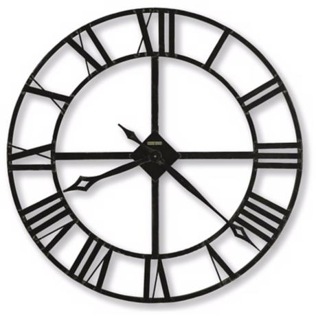 "Howard Miller Lacy Quartz 32"" Wide Wall Clock"