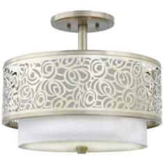 "Josslyn Collection Brushed Nickel 15"" Wide Ceiling Light"
