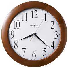 "Howard Miller Corporate 12 3/4"" Wide Wall Clock"
