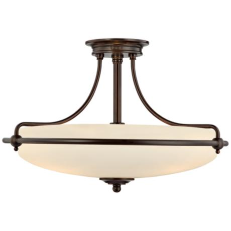 "Griffin Collection Palladian Bronze 21"" Wide Ceiling Light"