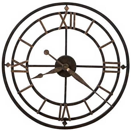 "Howard Miller York Station 21 1/4"" Wide Wall Clock"
