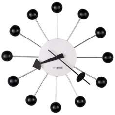 "Howard Miller Ball 14"" Wide Wall Clock"