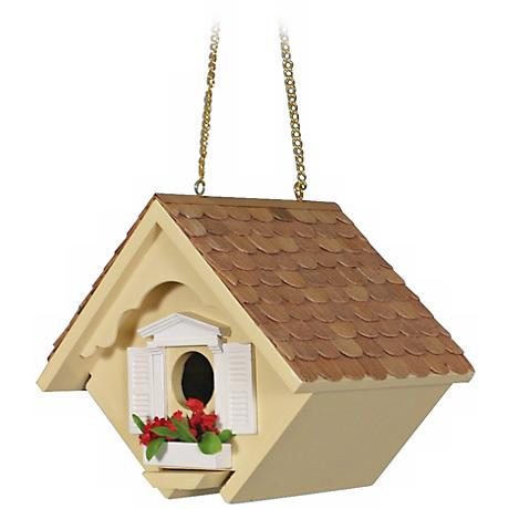Yellow Little Wren Cottage Bird House