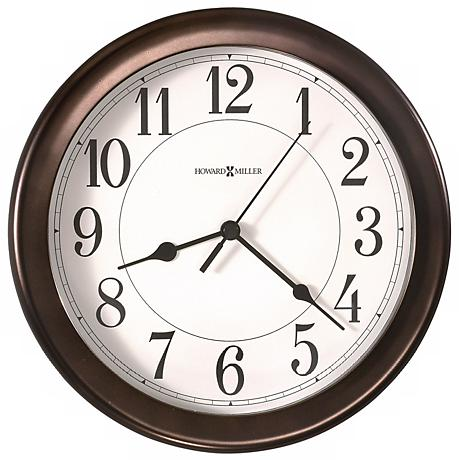 "Howard Miller Virgo Oil Rubbed Bronze 8 1/2"" Wide Wall Clock"