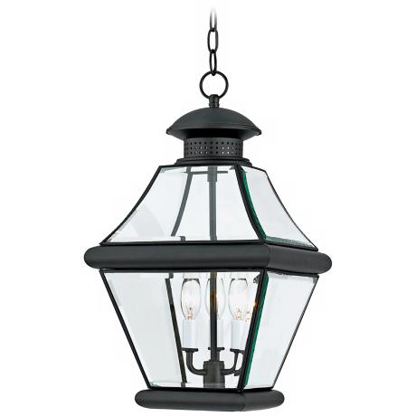 "Rutledge Mystic Black 19 1/2"" High Outdoor Hanging Light"
