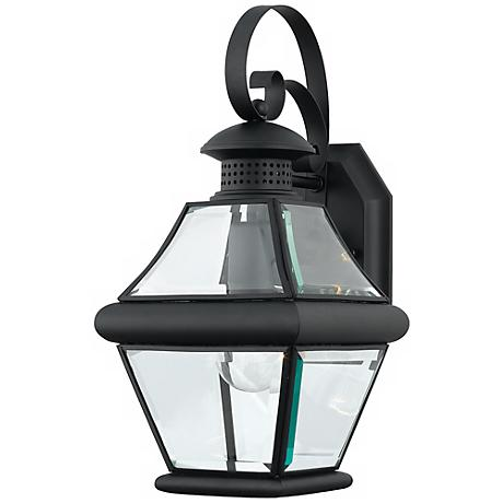 "Rutledge Collection Black 15"" High Outdoor Wall Light"