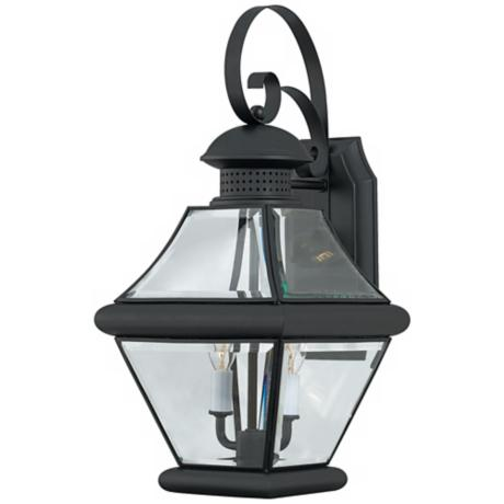 "Rutledge Collection Black 19"" High Outdoor Wall Light"