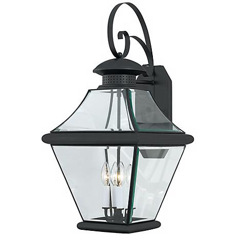 "Rutledge Collection Black 29"" High Outdoor Wall Light"