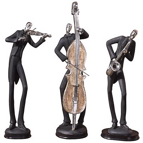 "Uttermost 18"" High Set of 3 Musicians"