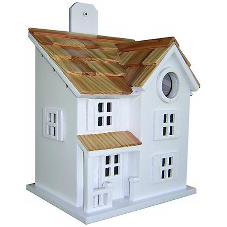 Townhouse White Bird House
