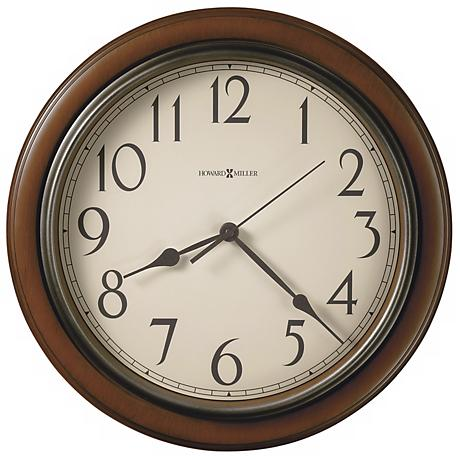 "Howard Miller Kalvin 15 1/4"" Round Cherry Wall Clock"