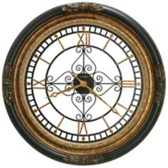 "Howard Miller Rosario 37"" Wide Gallery Wall Clock"