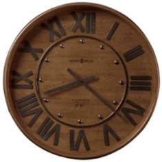 "Howard Miller Wine Barrel 25"" Wide Wall Clock"