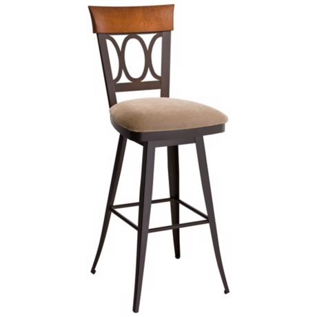 "Amisco Cindy Scotch 30"" High Swivel Bar Stool"