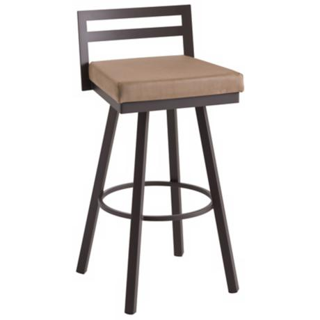 "Amisco Derek Cordero 26"" High Swivel Counter Stool"