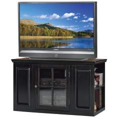 "Hand-Rubbed Black 42"" Wide Plasma TV Stand"