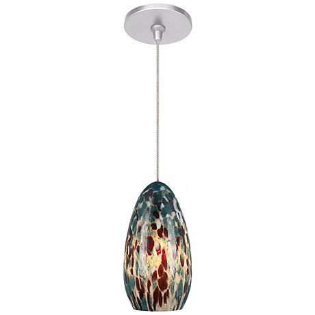 Banja Aquamarine with Satin Nickel Fusion Jack Mini Pendant
