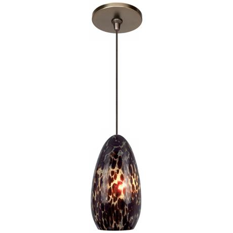 Banja Dark Amber with Bronze Fusion Jack Mini Pendant