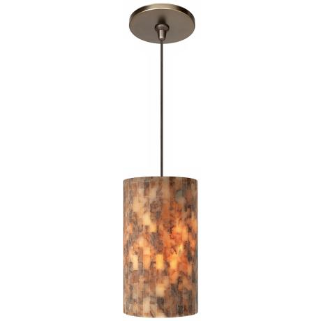 Coliseum Brown with Bronze Fusion Jack Mini Pendant