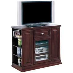"Espresso Wood 42"" Wide Tall Television Console"